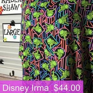 LuLaRoe Disney Kermit Irma LARGE**NEW**